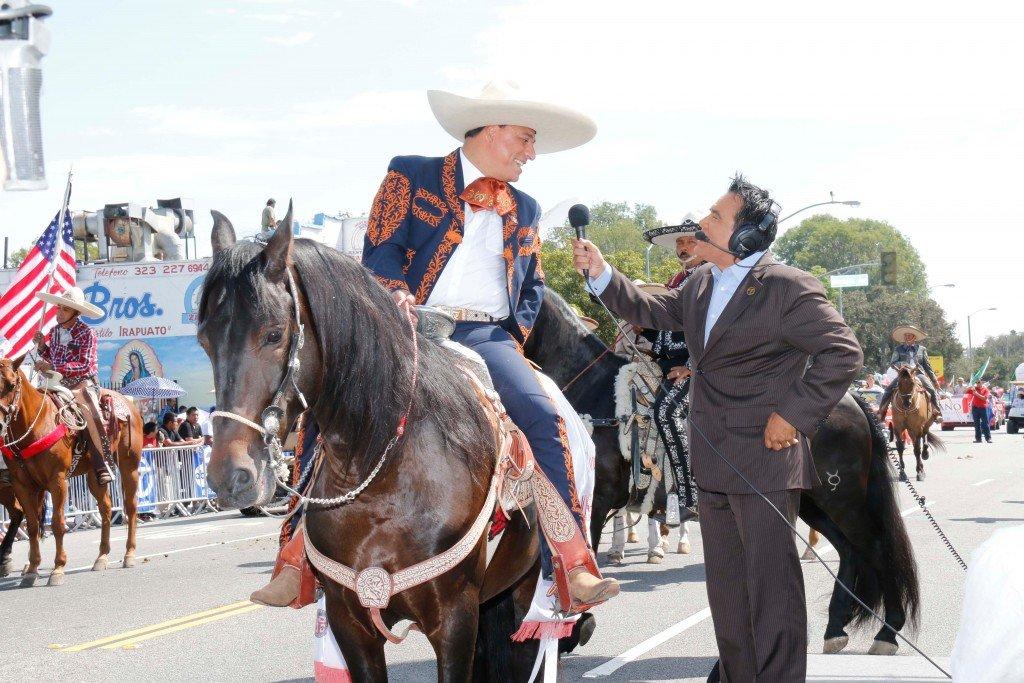 Councilman Jose Huizar East La Parade speaking to ABC 7 in LA