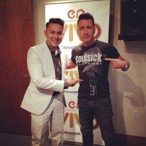 Frankie J in Miami Sirius Radio En Vivo With Jorge Bernal 2014