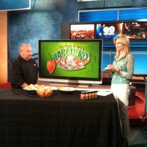 Habanero Eating Contest on KCAL 9 News